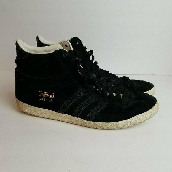 adidas Shoes | Adidas Og Gazelle Ef Mid Black Suede Mid Top 9 ...